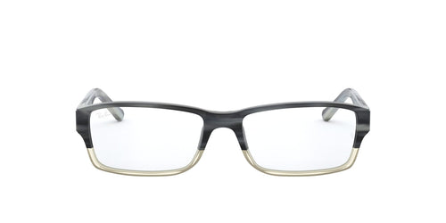 Ray Ban Rx - RX5169 Grey Horn Grad Trasp Grey Rectangle Men Eyeglasses - 54mm