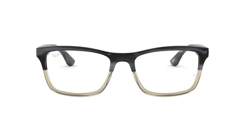Ray Ban Rx - RX5279 Grey Horn Grad Trasp Grey Square Men Eyeglasses - 55mm