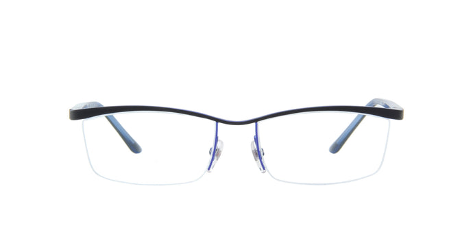 Starck - PL9901 Blue Top Matte Black/Demo Lens Rectangular Men Eyeglasses - 56mm
