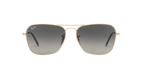Ray Ban - Caravan Gold/Grey Gradient Rectangular Men Sunglasses - 58mm