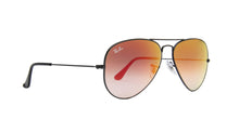 Ray Ban - Aviator Black/Red Mirror Unisex Sunglasses - 58mm