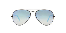 Ray Ban - Aviator Black/Blue Mirror Unisex Sunglasses - 58mm
