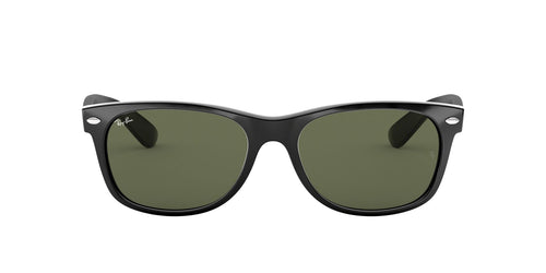 Ray Ban - New Wayfarer Black/Crystal Green Rectangular Unisex Sunglasses - 58mm