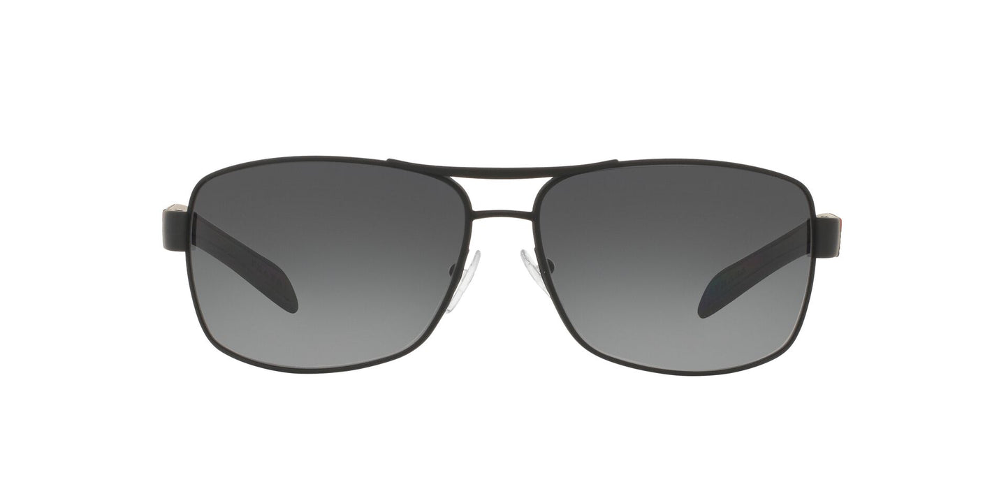 Prada Sport - PS54IS Black Rectangular Men Sunglasses - 65mm