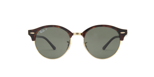 Ray Ban - Clubround Red Havana/Green Polarized Unisex Sunglasses - 51mm
