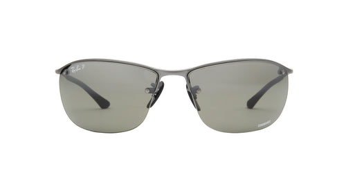 Ray Ban - Chromance Matte Gunmetal/Grey Silver Mirror Polarized Wrap Men Sunglasses - 63mm