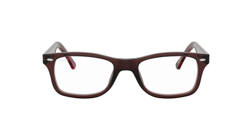 Ray Ban Rx - RX5228 Opal Brown Square Unisex Eyeglasses - 55mm