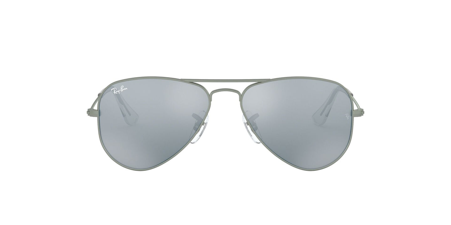Ray Ban Jr - Aviator Matte Gunmetal/Grey Flash  Kids Sunglasses - 50mm