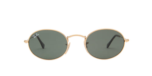 Ray Ban - Oval Flat Lenses Gold Oval Unisex Sunglasses - 48mm