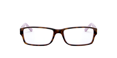 Ray Ban Rx - RX5169 Top Havana On Opal Violet/Demo Lens Rectangular Unisex Eyeglasses - 54mm
