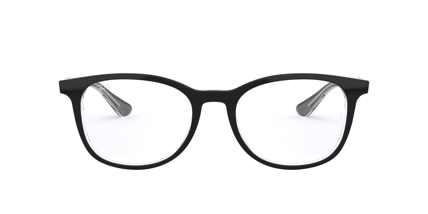 Ray Ban Rx - RX5356 Top Black On Transparent Square Unisex Eyeglasses - 54mm
