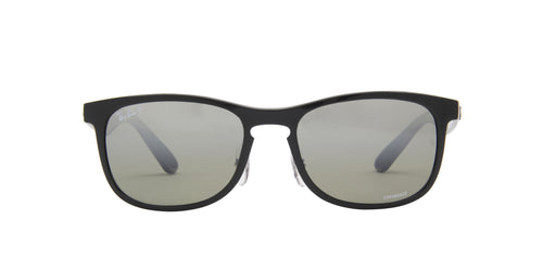 Ray Ban - Chromance Shiny Black Square Men Sunglasses - 55mm