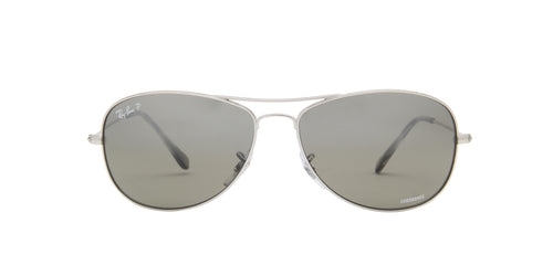 Ray Ban - Chromance Shiny Silver Aviator Unisex Sunglasses - 59mm