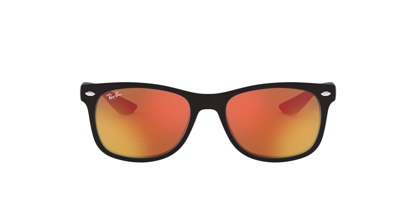 Ray Ban Jr - New Wayfarer Matte Black/Red Multilayer Square Kids Sunglasses - 50mm