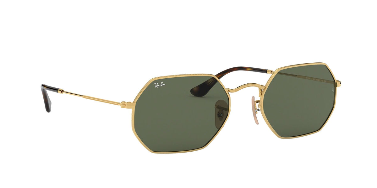 Ray Ban - Octagonal Classic Gold/Grey Blue Gradient Geometric Men Sunglasses - 53mm