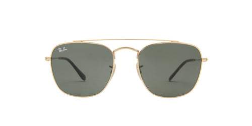Ray Ban - RB3557 Gold Square Men Sunglasses - 54mm