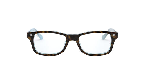 Ray Ban Jr - RY1531 Havana Blue/Clear Rectangular Unisex Eyeglasses - 48mm