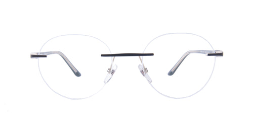 Starck - SH2021 Gold Top Matt Black/Clear Rimless Men Eyeglasses - 51mm