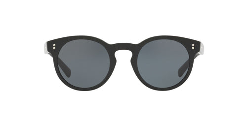 Valentino - VA4009 Black Round Women Sunglasses - 47mm