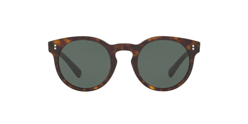 Valentino - VA4009 Havana Round Women Sunglasses - 47mm