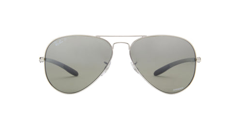 Ray Ban - Chromance Shiny Silver Aviator Unisex Sunglasses - 58mm