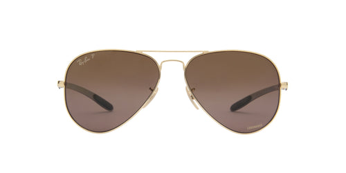 Ray Ban - Chromance Shiny Gold Aviator Unisex Sunglasses - 58mm