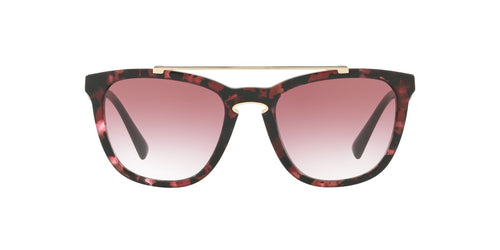 Valentino - VA4002 Havana Pink Marble Square Women Sunglasses - 54mm