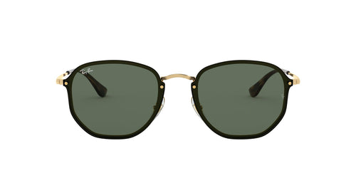 Ray Ban - RB3579N Gold/Green Oval Unisex Sunglasses - 58mm