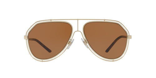 Dolce Gabbana - DG2176 Pale Gold Aviator Men Sunglasses - 59mm