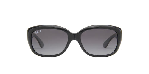 Ray Ban - Jackie Ohh Shiny Black Rectangle Women Sunglasses - 58mm
