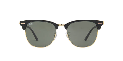 Ray Ban - Clubmaster Ebony/Oro Oval Men Sunglasses - 55mm