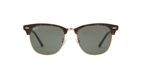 Ray Ban - Clubmaster Mock Tortoise/ Arista Oval Unisex Sunglasses - 55mm