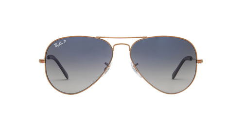 Ray Ban - Aviator Copper Aviator Unisex Sunglasses - 58mm