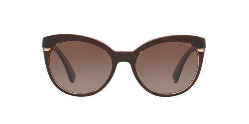 Ralph- Polo - RA5238 Brown Beige Cat Eye Women Sunglasses - 55mm