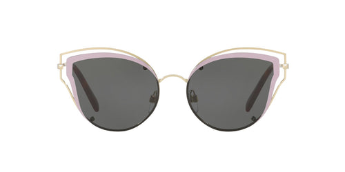 Valentino - VA2015 Light Gold Irregular Women Sunglasses - 58mm