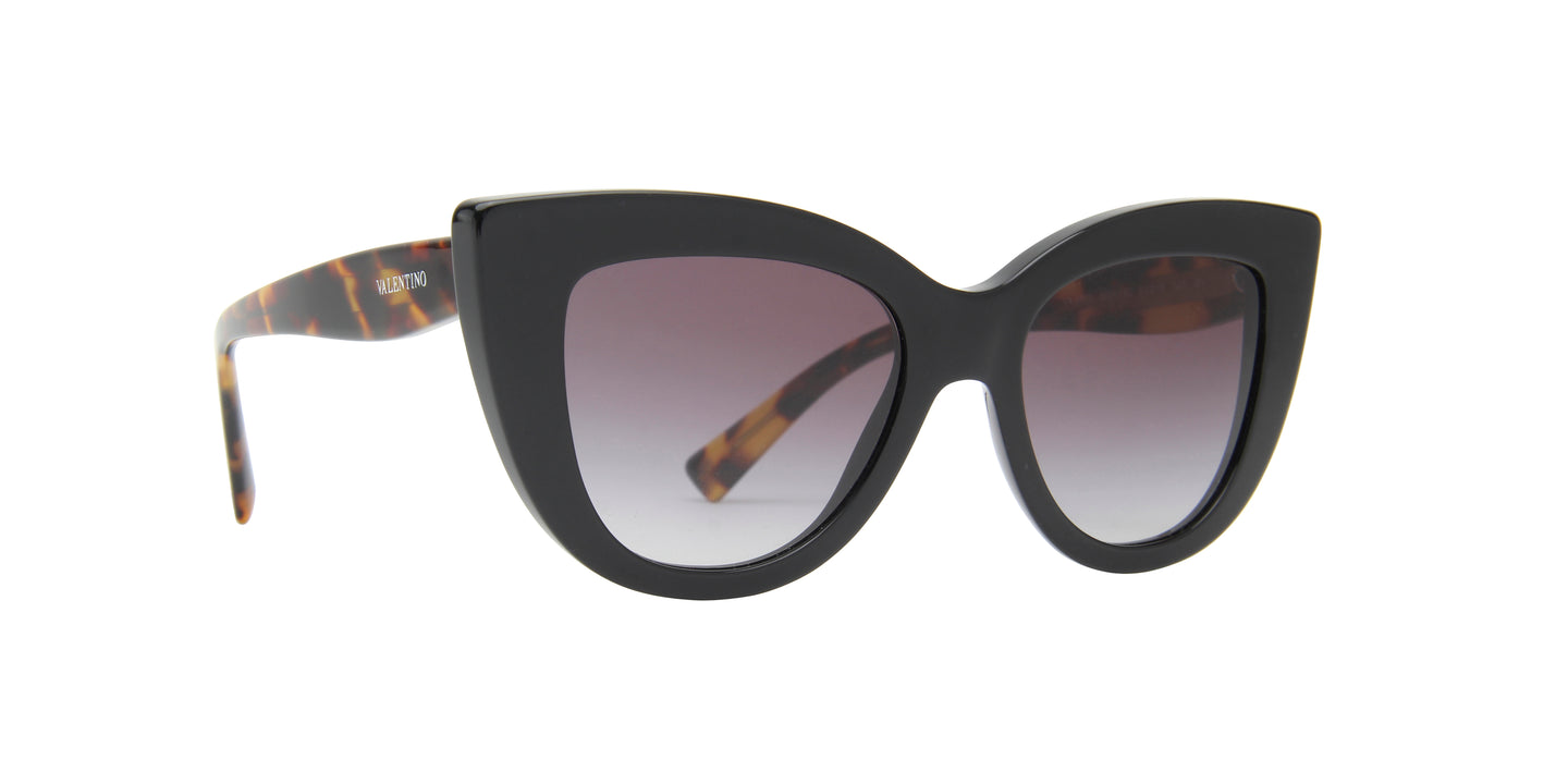 Valentino - VA4025 Black Cat Eye Women Sunglasses - 51mm