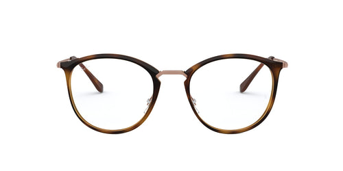 Ray Ban Rx - RX7140 Stripped Havana Square Unisex Eyeglasses - 51mm