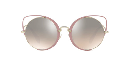 Miu Miu - MU51TS Pale Gold/Brown Gradient Irregular Women Sunglasses - 54mm