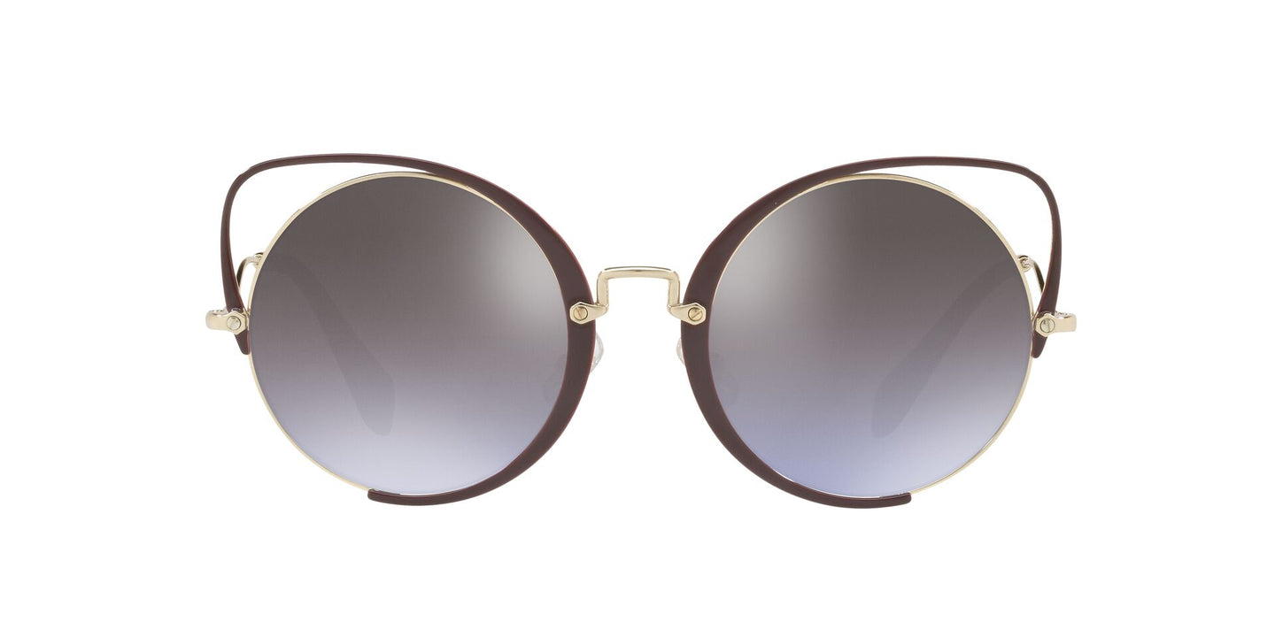 Miu Miu - MU51TS Pale Gold Brown/Violet Gradient Irregular Women Sunglasses - 54mm