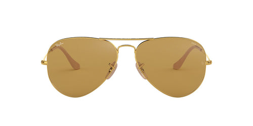 Ray Ban - Aviator Washed Evolve Gold/Brown Unisex Sunglasses - 58mm
