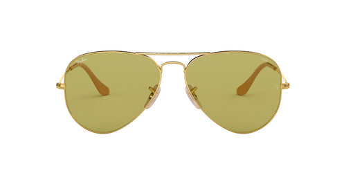Ray Ban - Aviator Washed Evolve Gold/Green Unisex Sunglasses - 58mm