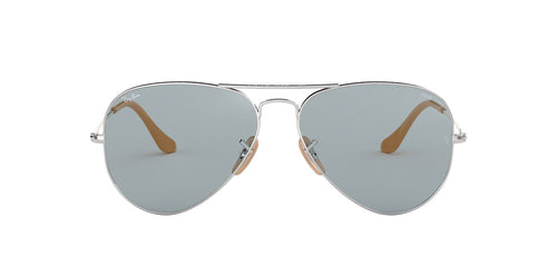 Ray Ban - RB3025 Silver Aviator Men Sunglasses - 55mm