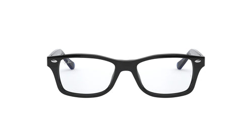 Ray Ban Jr - RY1531 Black/Clear Rectangular Unisex Eyeglasses - 48mm