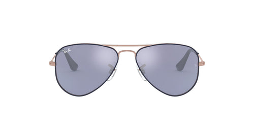 Ray Ban Jr - Aviator Copper Top On Blue/Blue Flash Silver  Kids Sunglasses - 50mm
