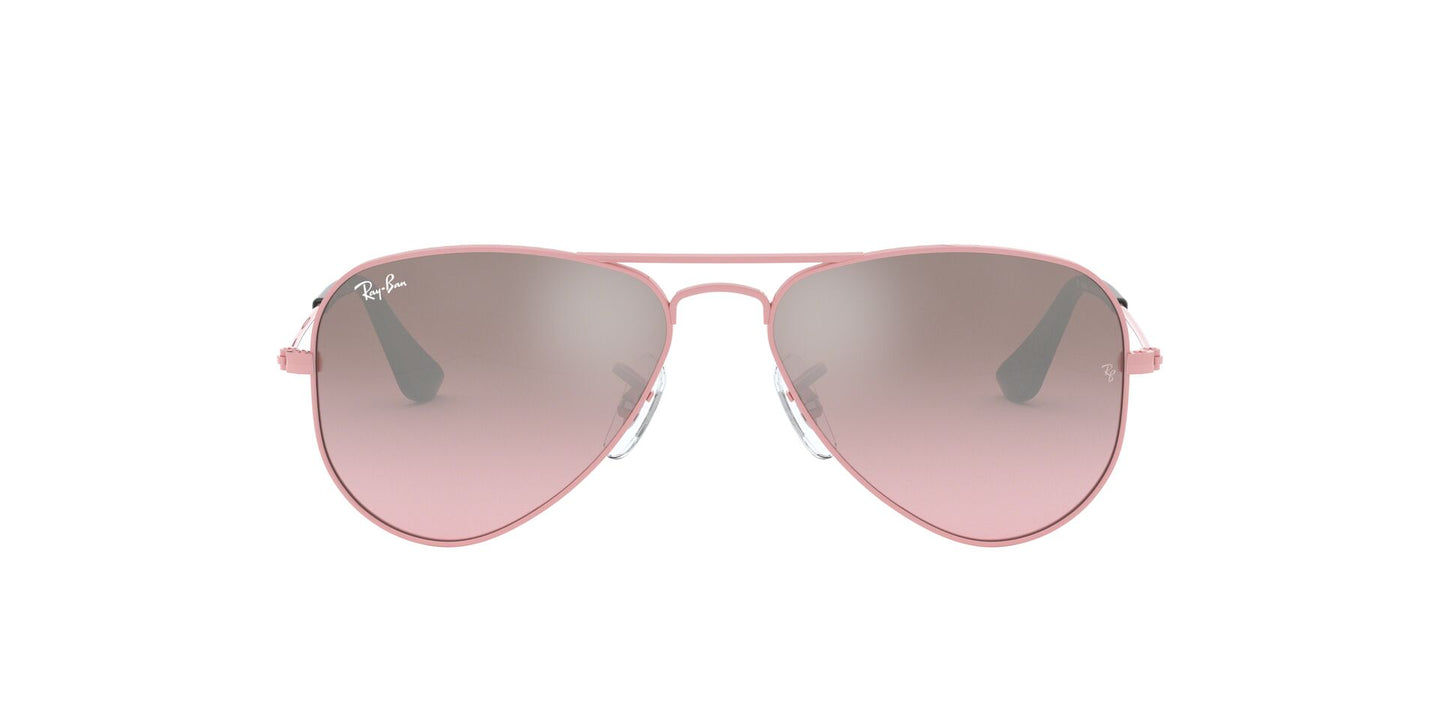 Ray Ban Jr - Aviator Pink/Pink Mirror Silver Gradient  Kids Sunglasses - 52mm