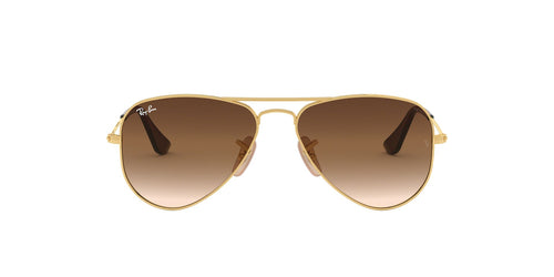 Ray Ban Jr - Aviator Gold/Brown Gradient  Kids Sunglasses - 52mm