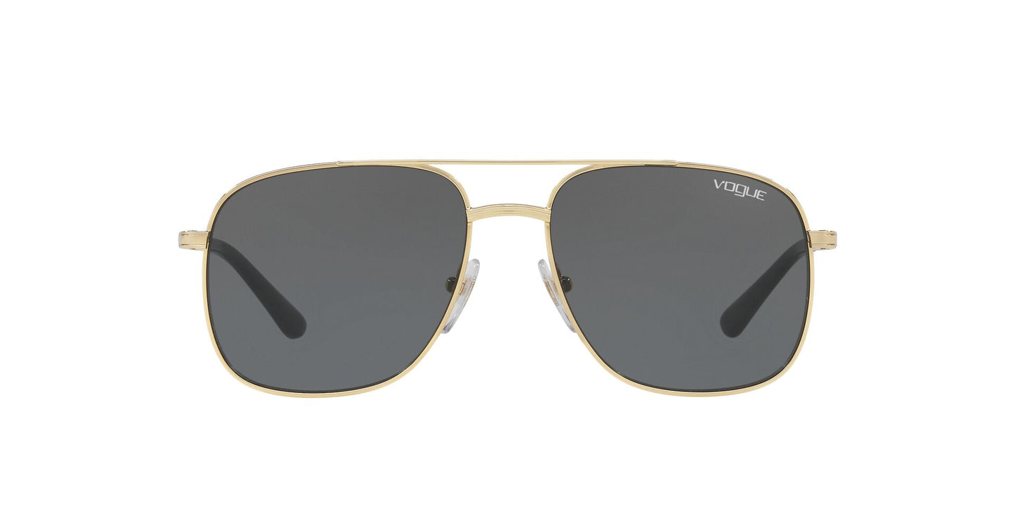 Vogue - VO4083S Gold Rectangle Women Sunglasses - 55mm