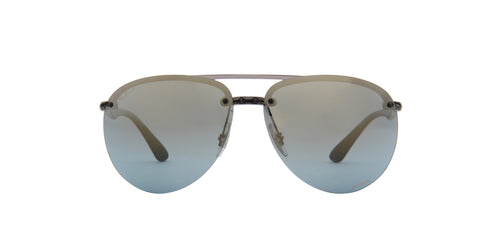 Ray Ban - Chromance Grey Aviator Men Sunglasses - 64mm
