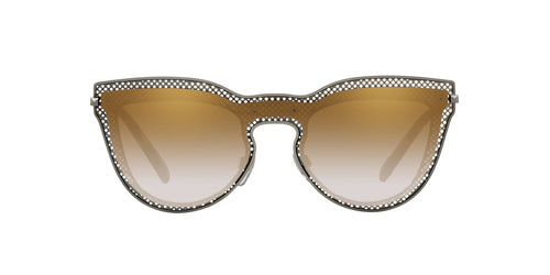 Valentino - VA2018 Gunmetal Cat Eye Women Sunglasses - 33mm