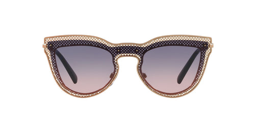 Valentino - VA2018 Rose Gold Cat Eye Women Sunglasses - 33mm